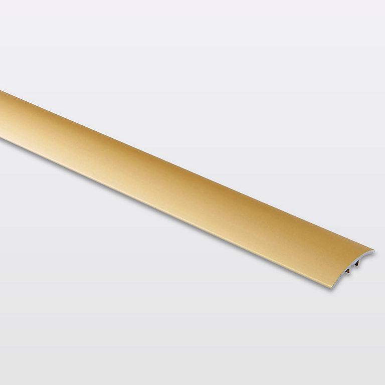 barre de seuil incurvée en aluminium décor doré mat