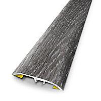 Barre de seuil universelle en métal coloris ceruse brun 83 x 3,7 cm.