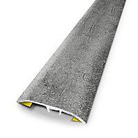 Barre de seuil universelle en métal coloris huilé gris 83 x 3,7 cm.