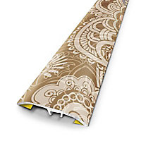Barre de seuil universelle en métal motif kesara 83 x 3,7 cm.