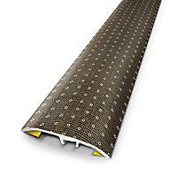 Barre de seuil universelle en métal motif linen dots 83 x 3,7 cm.