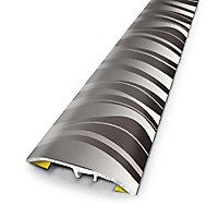Barre de seuil universelle en métal motif zebre 83 x 3,7 cm.