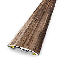 Barre de seuil universelle en métal urban beige patiné 83 x 3,7cm.