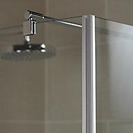 Barre de stabilisation murale pour paroi de douche, 122 cm, aspect chromé