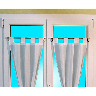 barre de vitrage sans percage presto basic blanc o9 mm x l 30 45 cm