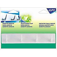 Barrette 4 crochets GPI plastique blanc
