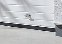Bas de porte de garage alu Diall argent 125 cm (lot de 2)
