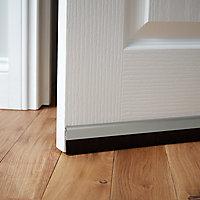 Bas de porte sol alu brossé Diall blanc L.100 cm