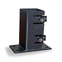 Base poteau réglable à fixer noir 9 x 9 cm