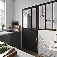 Bloc-porte atelier noir H.204 x l.83cm, poussant gauche