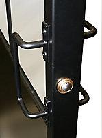 Bloc-porte esprit atelier noir H.204 x l.83 cm, poussant droit
