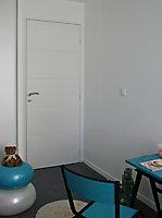 Bloc-porte Gravé prépeint H.204 x l.73 cm, poussant droit