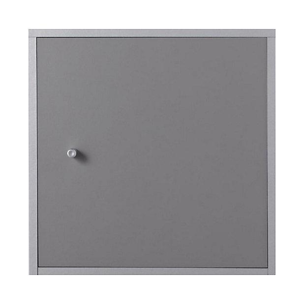 Bloc Porte Gris Pour Cube De Rangement 32 X 32 Cm Castorama