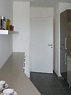 Bloc-porte isolant prépeint H.204 x l.73 cm, poussant droit