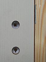 Bloc-porte post-formé 3 panneaux TD H.204 x l.73 cm, poussant droit