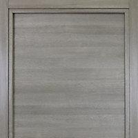 Bloc-porte Summa gris clair H.204 x l.73 cm, poussant droit
