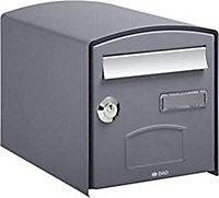 Boîte aux lettres 1 porte Decayeux Dôme Gris Ral 7021