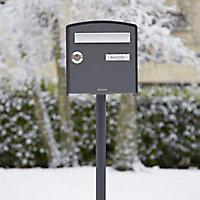 Boîte aux lettres 2 portes Decayeux Dôme Gris anthracite Ral 7016