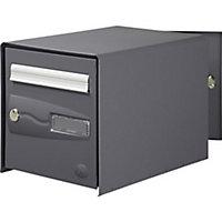 Boîte aux lettres 2 portes Decayeux Oceanis Gris Ral 7016