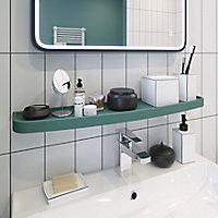 Boîte à coton céramique Aetna blanche et noire