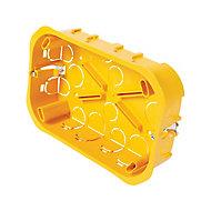 Boîte de dérivation à encastrer pour cloison sèche avec entrées et système de fermeture à vis Diall 160x100x40 mm