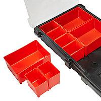 Boîte de rangement 9 godets amovibles