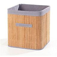 Boîte de rangement carrée en bambou Mixxit