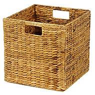 Boîte de rangement carrée en fibre naturelle Mixxit