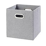 Boîte de rangement carrée en flanelle Mixxit coloris gris
