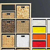 Boîte de rangement carrée en jonc de mer Mixxit