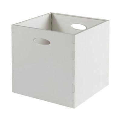 Boite De Rangement Carree En Plastique Mixxit Coloris Blanc Castorama
