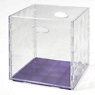 Boîte de rangement carrée en plastique Mixxit transparent