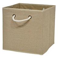 Boîte de rangement carrée en toile de jute Mixxit