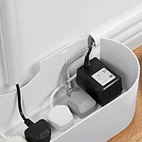 Boîte de rangement de câbles blanc D-Line L. 325 x l. 125 mm, bloc 4 prises