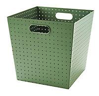 Boîte de rangement en métal perforé Mixxit coloris vert