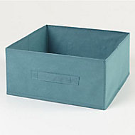 Boîte de rangement en textile Mixxit coloris bleu turquoise
