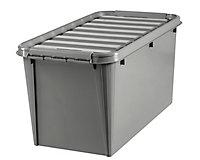 Boîte de rangement plastique avec couvercle Recycler Smartstore 70 L coloris gris