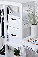 Boîte de rangement rectangulaire avec couvercle Mixxit coloris blanc