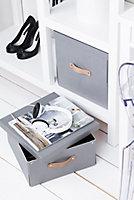 Boîte de rangement rectangulaire avec couvercle Mixxit coloris gris