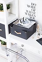 Boîte de rangement rectangulaire avec couvercle Mixxit coloris noir