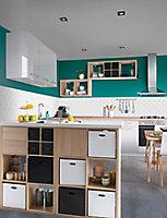 Boîte de rangement rectangulaire en flanelle Mixxit coloris gris
