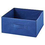 Boîte de rangement rectangulaire en textile Mixxit coloris bleu