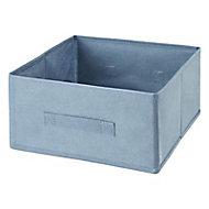 Boîte de rangement rectangulaire en textile Mixxit coloris gris foncé