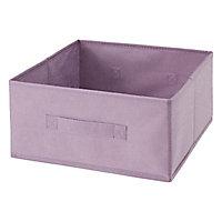 Boîte de rangement rectangulaire en textile Mixxit coloris rose
