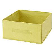 Boîte de rangement rectangulaire en textile Mixxit coloris vert