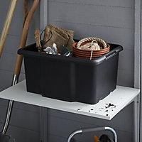 Boîte en plastique 26L Fitty noir
