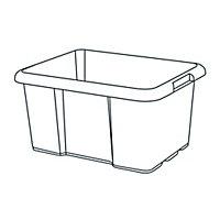 Boîte en plastique 44L Fitty noir
