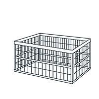 Boîte pliable en plastique Stuva gris et noir 45 L