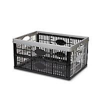 Boîte pliable en plastique Stuva noir et gris 33 L