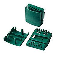 Boite de 15 blocs de fixation Cloe vert